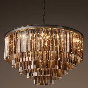 Светильник BLS 30335 1920s Odeon Glass Fringe Chandelier